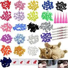 VICTHY 100 PCS Soft Pet Cat Nail Caps Cats Paws ... - Amazon.com
