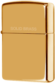 254 <b>Зажигалка</b> Zippo <b>Solid Brass</b> Engraved, High Polish