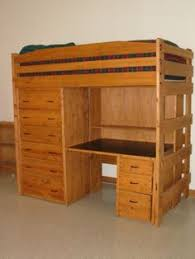 sturdy solid wood loft bed with dresser and desk available in various sizes custom built by hand you choose the best finish and options for your room bunk bed dresser desk