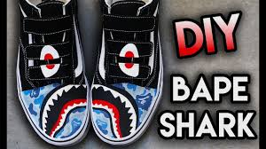 HOW TO: <b>BAPE SHARK</b> TEETH YOUR SHOES ! SUPER EASY ...