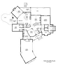 Craftsman House Plan  Home Plan       The Plan Collection    Floor Plan First Story for these Luxury House Plans