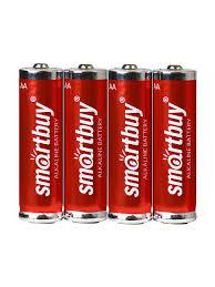 Батарейка алкалиновая <b>Smartbuy</b> LR6 <b>AA</b> 4шт в пленке <b>Smartbuy</b> ...