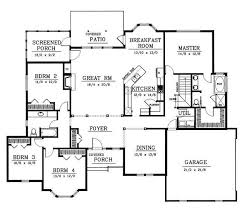 images about Floor plans on Pinterest   House plans  Monster    Traditional Style House Plans   Square Foot Home  Story  Bedroom and Bath  Garage Stalls by Monster House Plans   Plan  rambler