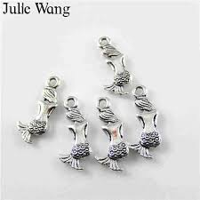 Julie Wang 2 12PCS <b>Enamel</b> Red Ladybugs <b>Charms</b> Cartoon Gold ...