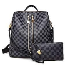 <b>Backpack</b> for <b>women</b> Fashion <b>Leather Ladies Rucksack</b> Crossbody ...