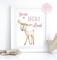 Woodland Nursery Art Deer Woodland Boho Print ... - Amazon.com