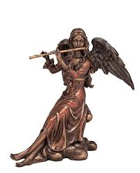 """Veronese Статуэтка """"<b>Ангел с флейтой</b>"""" (20 см) Бронзовый купить ..."""