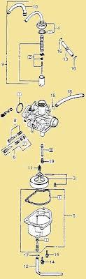 keihin carburetors myrons mopeds keihin 1981 83 honda nc50 carburetor illustration
