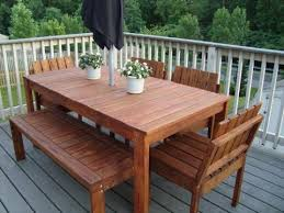 ana white simple outdoor dining table diy projects build patio furniture