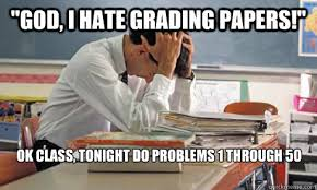 Image result for i hate grading meme