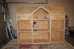 American Girl Doll House   American Girl   Pinterest   Girls Doll        American Girl dollhouse   eaves on both sides open for storage