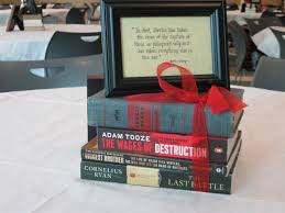 cute idea for graduation party use books as centerpiece cute idea for graduation party use books as centerpiece quote tie