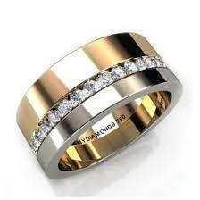 <b>Aramis Mens</b> Diamond Two Tone Ring - 0.40 carats   <b>Mens</b> Wedding ...