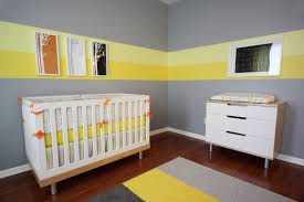 1217 the room view from the glider baby nursery yellow grey gender neutral