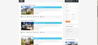 real homes responsive wordpress real estate theme review listing