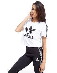 adidas Originals Tape Crop T Shirt     JD Sports