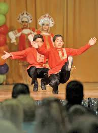 russian community celebrates arts and culture park labrea news children showcased traditional