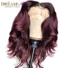<b>Ombre 1B 30 Curly</b> Human Hair Wig Remy Deep Part 13X6 Lace ...