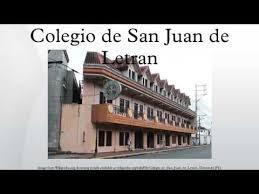 Colegio de San Juan de Letran - YouTube