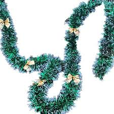 dxS8hhuo 200cm/7ft <b>Christmas Bowknot</b> Balls <b>Garland Xmas Tree</b> ...