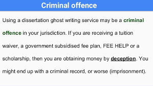 Never use a dissertation ghost writing service