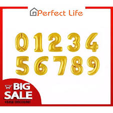 Perfect Life <b>16Inch Number Balloon</b> Gold Silver Blue <b>Pink</b> | Shopee ...