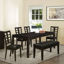 Contemporary Round Dining Table For 6 Contemporary Small Home Dining Room Sets Black Wooden Table