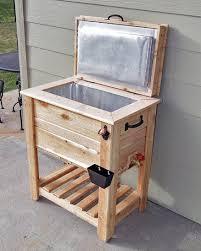 cedar patio cooler stand love rustic cedar fence picket deck porch cooler icebox