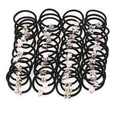 20Pcs Simple Black Headband Flower Heart Bow Hair Accessories ...