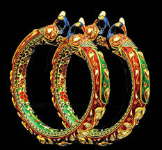 brass meenakari peacock wall hanging gold tone