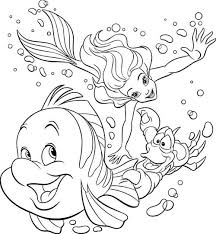 Small Picture Stunning Coloring Pages Ariel Sea Images New Printable Coloring