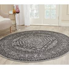 safavieh california shag black 4 ft x 4 ft round area rug sg151 9090 4r the home depot california shag black 4 ft