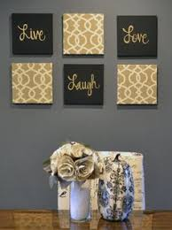 live laugh love wall art pack of 6 canvas wall hangings painting fabric upholstered large living room decor modern chic beige black gold by goldenpaisley charming pernk dining room