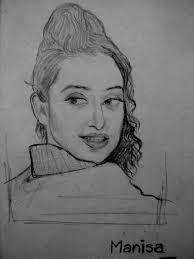Manisha Koirala Sketch By Naveen Kumar Singh in Sketching by Naveen Kumar Singh - manisha-koirala-sketch-by-naveen-kumar-singh-2371