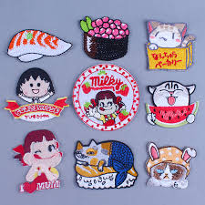 <b>Pulaqi</b> Boutique sushi patches <b>Cartoon</b> Iron On Embroidered ...