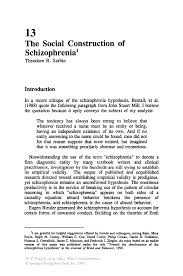 the social construction of schizophrenia springer inside
