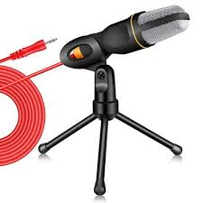 Wired Microphone with Tripod <b>Mini</b> Jack 35mm Handheld ...