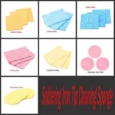 Soldering Iron Tip Cleaning Sponge <b>Universal Solder Iron Tip</b> ...