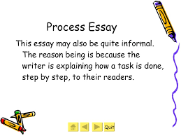 different types of essays   process essay
