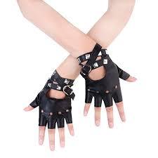 Buy JISEN Sexy <b>Women Punk rivets</b> Belt Up Half Finger PU Leather ...