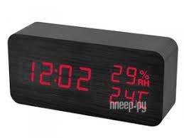 <b>Часы Perfeo Wood PF</b>-<b>S736</b> Black PF-A4393