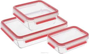 """<b>Набор контейнеров</b> Emsa """"<b>Clip&Close Glass</b>"""", цвет: красный ..."""