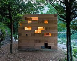 view in gallery futuristic backyard sheds offices studios geometric wood block backyard office pod cuts