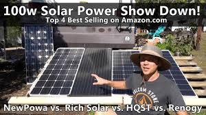 Top 4 Amazon.com <b>100w</b> Solar Panels Tested! Renogy vs. HQST vs ...