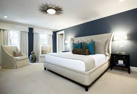 marvelous bed and white mattress under cool bedroom overhead lighting inside spacious room with classic teak nightstands and bright table lamps beside grey bedroom overhead lighting