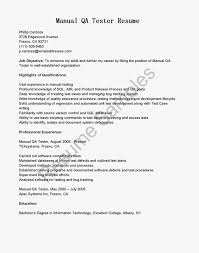 sample resume qa manual testing serversdb org sample resume qa manual testing