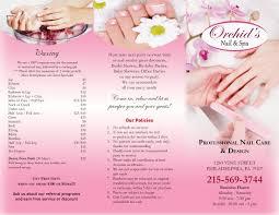 hair nail spa printing brochure 007
