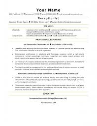 sample of a receptionist resume ending cover letter sample resume cover letter resumes for receptionists sample resumes for medical receptionist resume sample experience office secretary resumes