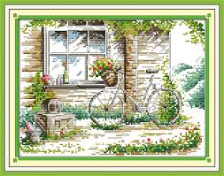 <b>Everlasting love</b> The quiet out of the window Chinese cross stitch ...