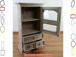 wooden cabinet with glass window and 3 draws handmade from bali whitewash baumhaus wine rack lamp table